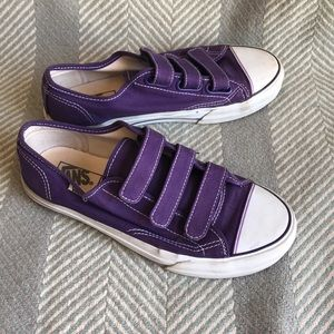 Vans Shoes - Vans Purple Women s 8 Mens 6.5 Velcro tennis Shoes a29fd0736